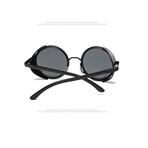 et Hommes métal gray Femmes Ronde Monture de black Lunettes des pour Soleil Sand Lunettes piece Burenqiq à avec frame avec Soleil de de Lunettes Soleil des en w46Zqa0