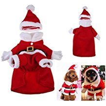 New Dog and Cat Clothes Santa Costume Christmas Pet Clothes Hoodie Puppy Coat Clothing Outfit for Dog Chihuahua Yorkshire Poodl (M)