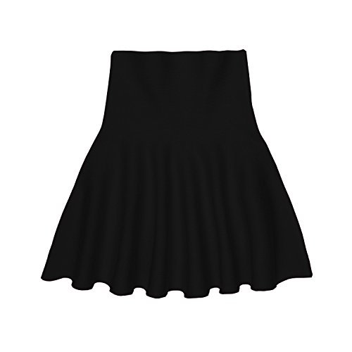 storeofbaby Little Big Girls' Casual Pleated Mini Skirt for Spring and Autumn (5-6 Years/Asian Size 3/Fits 130 cm Tall, Black)