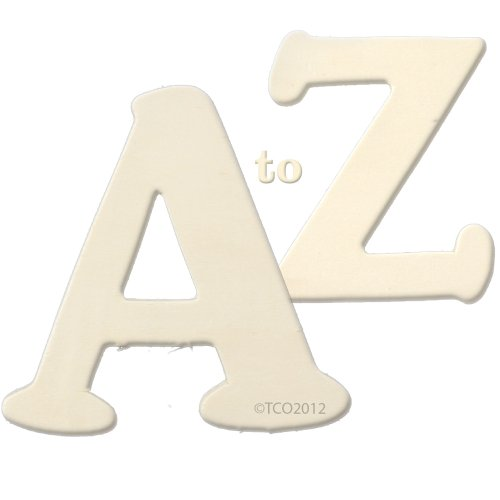 The Crafts Outlet Alphabet Set A to Z Wooden Letters, 1/4 by 4 by (Letter Z Crafts)