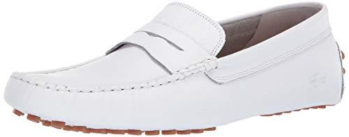 Lacoste Men's Concours Sneaker, White/Gum, 8.5 Medium US (Moccasins Men Lacoste For)