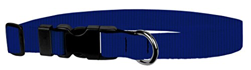 Moose Pet Wear Dog Collar - Colored Adjustable Pet Collars, Made in the USA - 3/4 Inch Wide, Small, Navy Blue
