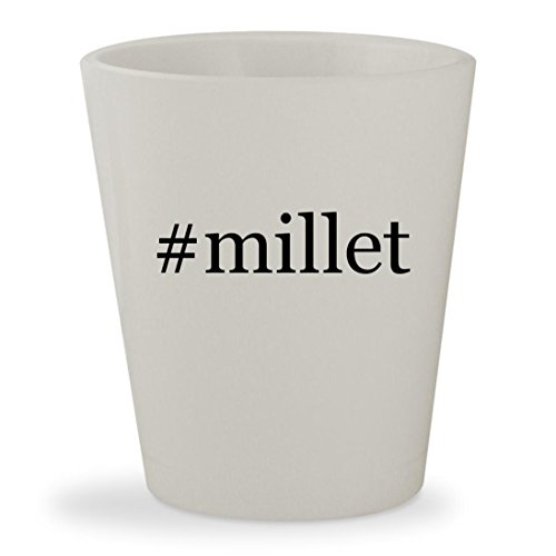 #millet - White Hashtag Ceramic 1.5oz Shot Glass - California Golden Spray