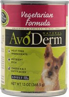 Avoderm Natural Adult Canned Dog Food Vegetarian Formula -- 13 oz