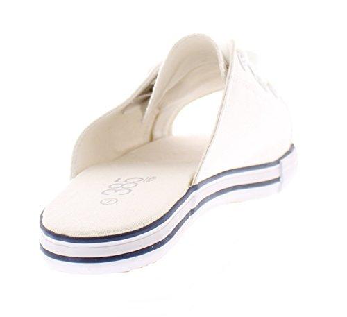 Sandalo Infradito Da Donna In Canvas Da 538 Slip Da Donna Con Infradito Sandalo Infradito Open Toe Scarpe Stringate Basse Bianche