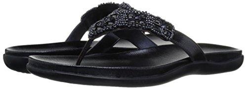 31Ri8v4lNtL Kenneth Cole REACTION Women's Glam-Athon Flat Sandal, Midnight, 8.5 M US