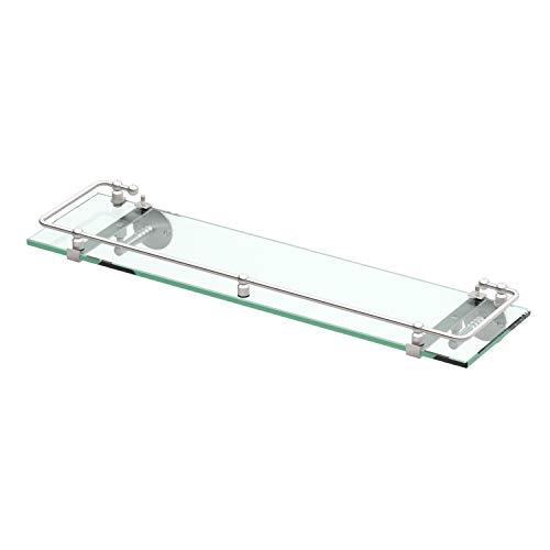 - Gatco 1438SN Glass Railing Shelf, Satin Nickel