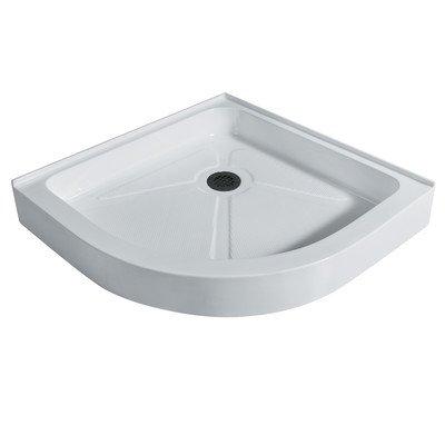 VIGO 42 x 42-in. Neo-Angle Shower Base, White
