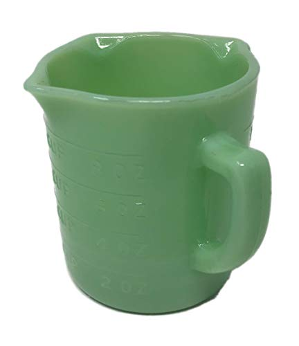Jadeite Green Glass 1 Cup Capacity Measuring Cup Reproduction Depression Style Jadite