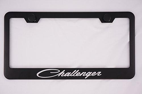 dodge-challenger-black-license-plate-frame-with-caps