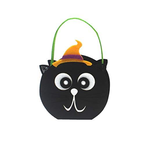 Halloween Candy Bag Pumpkin Handbag, Halloween Cute Witches Candy Bag Packaging Children Party Storage Bag (B)