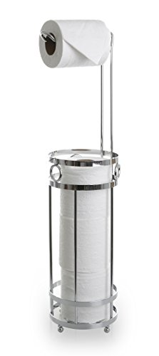 BINO 'The Glacier' Free Standing Toilet Paper Holder, Chrome