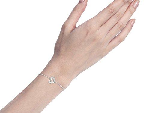 Or Blanc 18 ct Bracelet Diamant en forme de papillon, 0.04 Ct Diamant, GH-SI, 1.73 grammes.