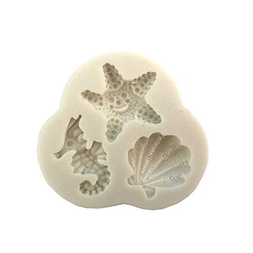 - Starfish/Tropical Fish/Sea Horse Silicone Mold Cake Candy Chocolate Molds Soap Embossed Decoration Pudding Mould DIY Baking Tool - (Color: L166)