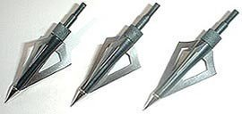 Last Punch Pack of 3-3 Blade Broadheads 150 Lb Crossbow