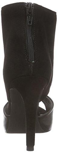 Mentor W7274 - Sandalias de tacón con punta descubierta, Mujer Negro