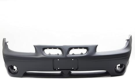 Primed and Ready for Paint GM1000698 12335942 2005 2006 2007 With Fog Light Holes New Front Plastic Bumper Cover Fascia For 2004-2008 Pontiac Grand Prix Base GT GTP GTI GT2 Sedan 04-08