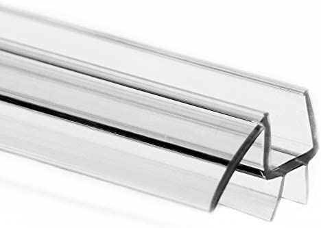 Eatelle Frameless Ultra Clear Shower Door Bottom Seal With Drip Rail 1 4 Thick 36 Long Sweep Glass Door Seal Strip Ultra Clear Durable Polycarbonate Stop Shower Leaks Amazon Com
