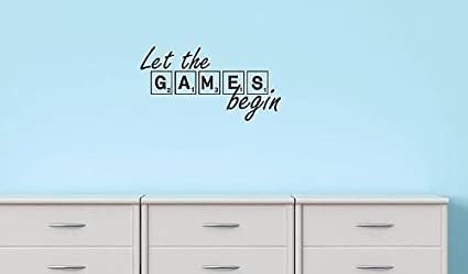 Design With Vinyl Black Star 993 Let The Games Begin Boy Girl