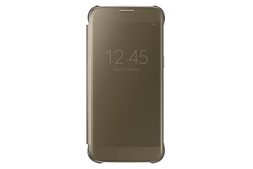 Original Cover - Samsung Galaxy S7 Case S-View Clear Flip Cover - Gold