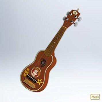 Hallmark 2012 Keepsake Ornaments QXD1064 Woody's Roundup Guitar Toy Story (Guitar Story Toy)