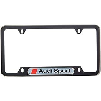 Amazon Com Audi Genuine Sport Black Pearl License Plate