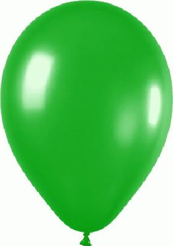 100 Globos Belbal de Látex Color Verde Hoja de 25.4cm (Helio o Aire). Fiestas / Bodas / Decoraciones