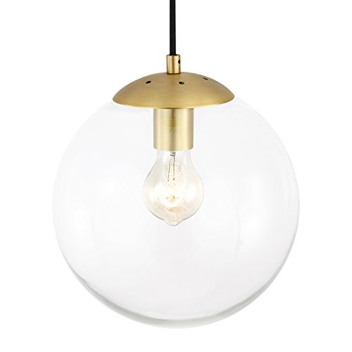 Mid Century Glass Pendant Light
