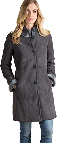 Justine Spanish Shearling Sheepskin Coat Graphite