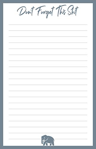 Dont Forget This Shit Note Pad - With Magnet   Grocery List, To-Do List, Honey Do List, Funny Gift Idea   Large 8.5 x 5.5 inches (50 Sheets)