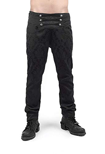 Punk Rave Mens's Steampunk Pants Victorian Gothic Pattern Long Trousers
