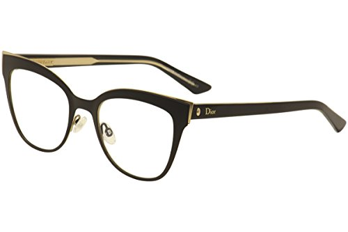 Christian Dior Women's Eyewear Frames Montaigne11 51mm Black Gold Crystal - Style Dior