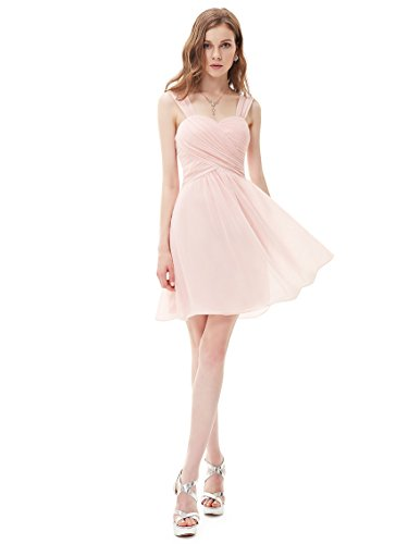 Ever Pretty - Vestido - plisado - para mujer Rosa