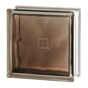 Quality Glass Block 7.5 x 7.5 x 3 Brilly Wave Bronze Color Glass Block