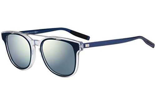 Christian Dior - BLACK TIE 211S, Geometric, acetate, men, BLUE CRYSTAL PALLADIUM/BLUE MIRROR(LCU/T7), (Acetate Tie)