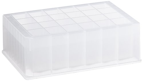 (Axygen P-DW-10ML-24-C Deep Well 24-Well x 10mL Storage Microplates with Rectangular Wells, Clear PP (1 Case: 5 Plates/Unit; 5 Units/Case))