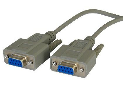 rhinocables® 5m 5 metre Lead Serial Null Modem Cable DB9 Female - DB9F - C1631