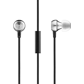 RHA MA390 Universal: Aluminium Noise Isolating Earbuds with Remote & Mic, 3 Year Warranty Included