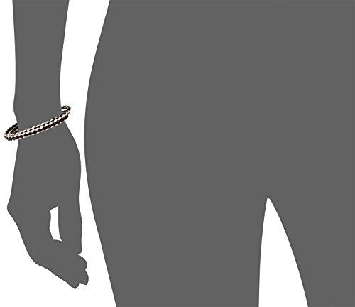 Nialaya - Bracelet - Argent 925 - MLTHCO_102 - L - Leder, 3mm dreireihig