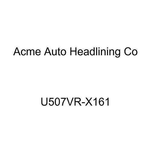 Acme U507VR-X161 Front and Rear Charcoal Vinyl Bench Seat Upholstery with Charcoal Velour Inserts