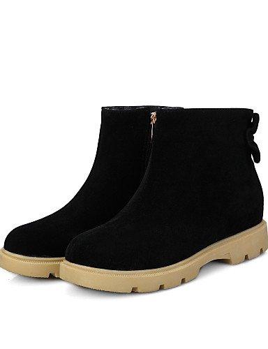 Mujer Zapatos us9 Punta 8 Gray La 5 Redonda 5 Cn42 Tacón Moda Eu39 10 5 Gris A Vellón Eu41 Botas Xzz 5 Vestido Uk7 Casual Cuña Gray De Uk6 us8 Cn40 Negro qEnTqad