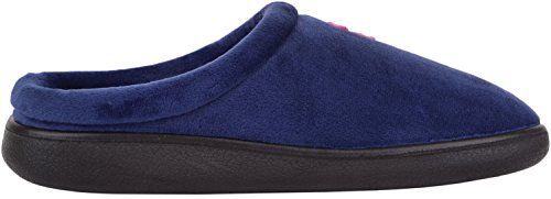 Warm Ladies Shoes Slippers Navy Fleece Slip Polar Mules Indoor Womens Inners with On 7qr8cWfr