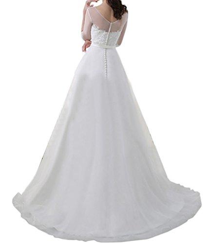 TOSKANA BRAUT - Vestido - trapecio - para mujer blanco