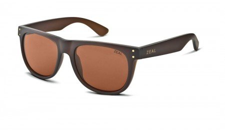 Zeal Optics Unisex Ace Bombay Brown W / Copper Polarized Lens Sunglasses by Zeal
