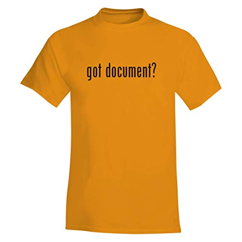 (The Town Butler got Document? - A Soft & Comfortable Men's T-Shirt, Gold, Small)