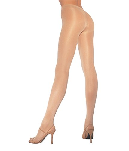 Leg Avenue Women's Opaque Sheer To Waist Tights with Cotton Crotch, Nude, One - Sheer Nudes To Waist