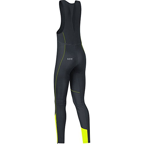 GORE WEAR Women's Long Cycling Bib Tights, C3 Women's Windstopper Bib Tights+, Size: S, Color: Black/Neon Yellow, 100332 by GORE WEAR (Image #3)