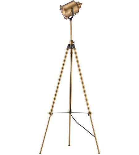 Amazon.com: Lámpara de pie 1 luz con acabado de latón ...