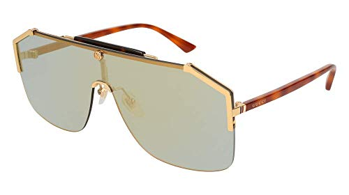 Gucci gg0291s 100% Authentic Men's Sunglasses Gold 005, Gold, Size 99-0-140