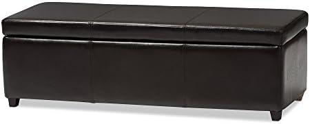 Baxton Studio Enrica Leather Storage Ottoman